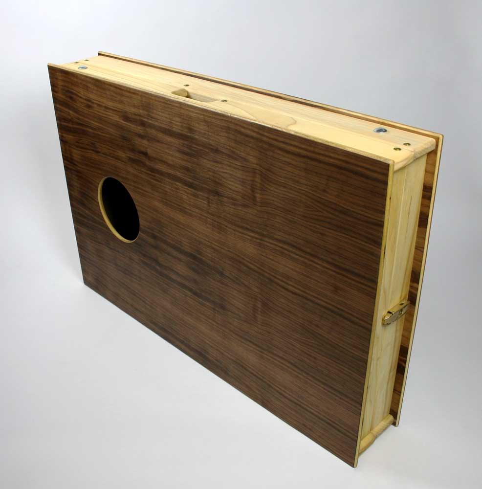 walnut cornhole boards and duck canvas beanbags