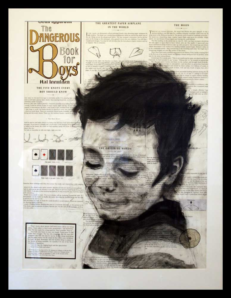 charcoal portrait of a boy