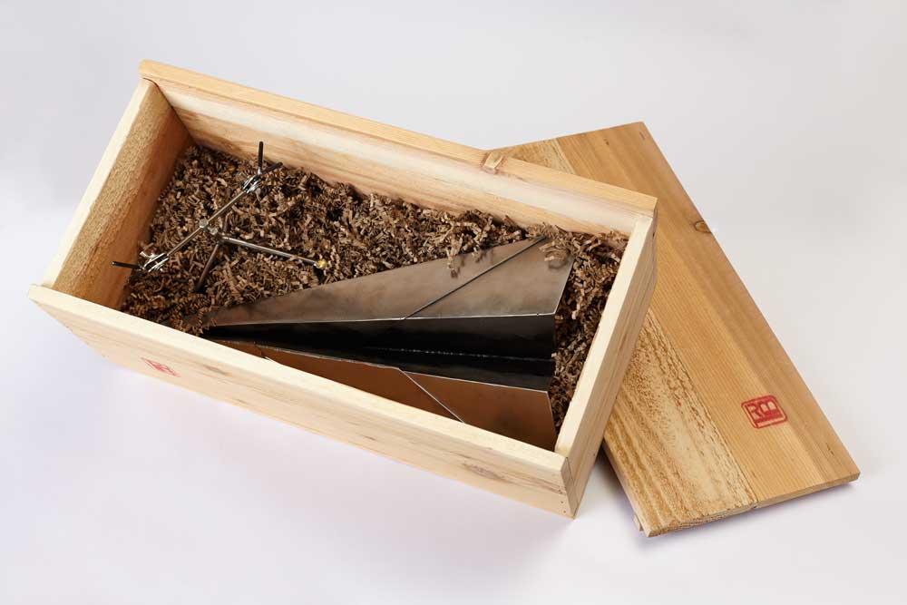 custom cedar packing crate